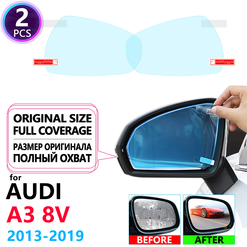 Full Cover Anti Fog Film Rainproof Rearview Mirror for Audi A3 8V 2013~2019 Car Stickers Accessories 2014 2015 2016 2017 2018 image