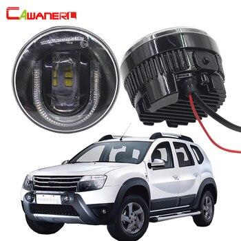 Cawanerl 2 X Car Styling LED Front Fog Light DRL Daytime Running Lamp 12V For 2012-2015 Renault Duster SUV