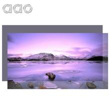 AAO 60 100 120 بوصة عالية السطوع شاشة العرض عاكس قماش نسيج الشاشة لشاشة الإسقاط Espon BenQ XGIMI YG420