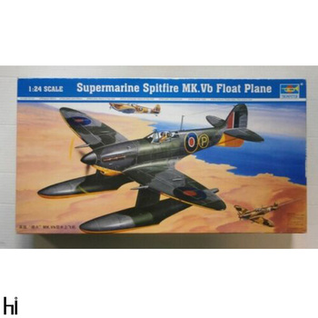Trumpeter 02404 1/24 Supermarine Spitfire MK.Vb Float Water Plane Aircraft Military Assembly Plastic Model Building Kit image