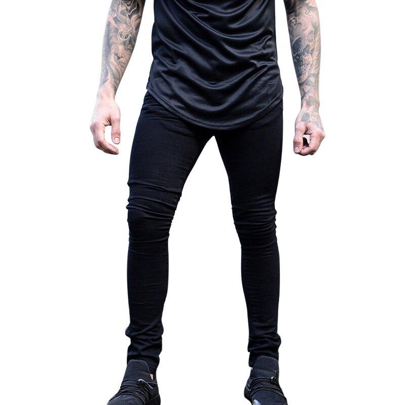 HEFLASHOR Man Casual Denim Biker Holes Jeans Pants Brand New Men Black Jeans Skinny Stretch Slim Fashion Hip Hop Denim Pants