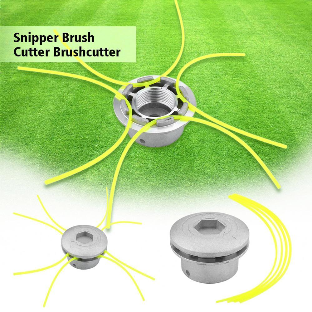 Aluminum Grass Trimmer Head Brush Cutter Strimmer Lawn Mower Accessories With 4