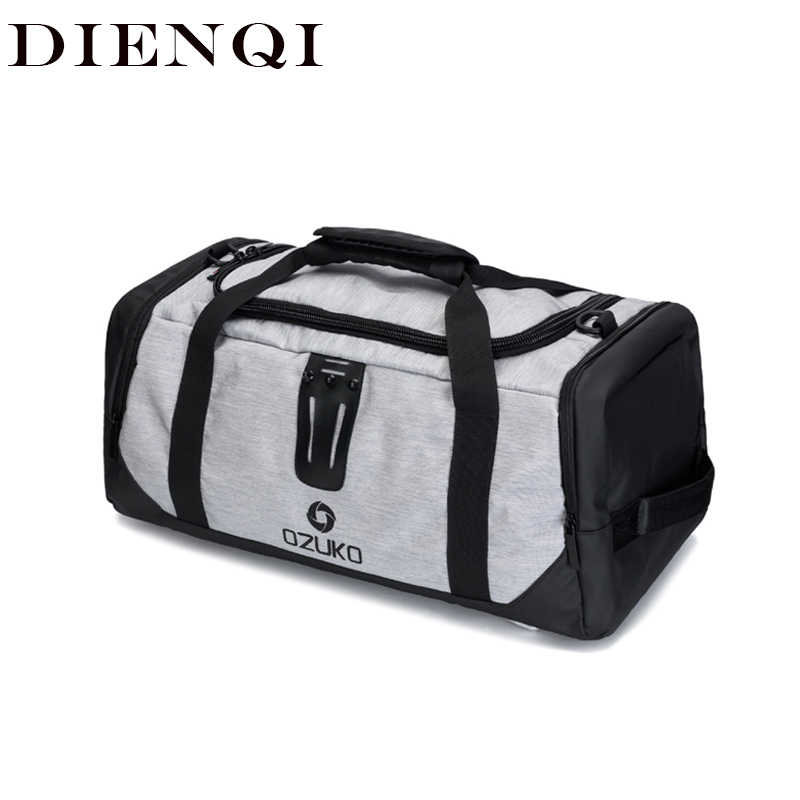 Dienqi duffle saco de viagem para os homens grande capacidade portátil multifuncional sacos ombro masculino mala mochila fim de semana saco cabine