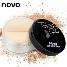 Novo Brand Makeup Loose Finishing Powder Matte Bare Face Whitening Skin Finish Transparent Powder Palette SPF 25 Cosmetic Puff