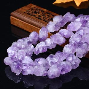 Image 2 - Natural amethyst stone  semi finished  material stone DIY  jewelry accessories Amethyst Stone Beads  Making DIY Bracelet