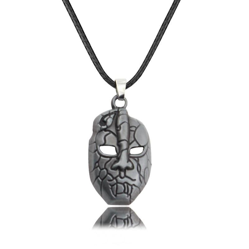 JOJOS BIZARRE ADVENTURE Necklace DIO Mask Pendant Rope Chain Cosplay Jewelry