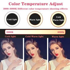 Image 3 - Orsda LED Ring Licht 10 Zoll Fotografie Dimmen ringlight Youtube 3500 5500k USB Stecker Selfie Ring Licht Mobile telefon Halterung