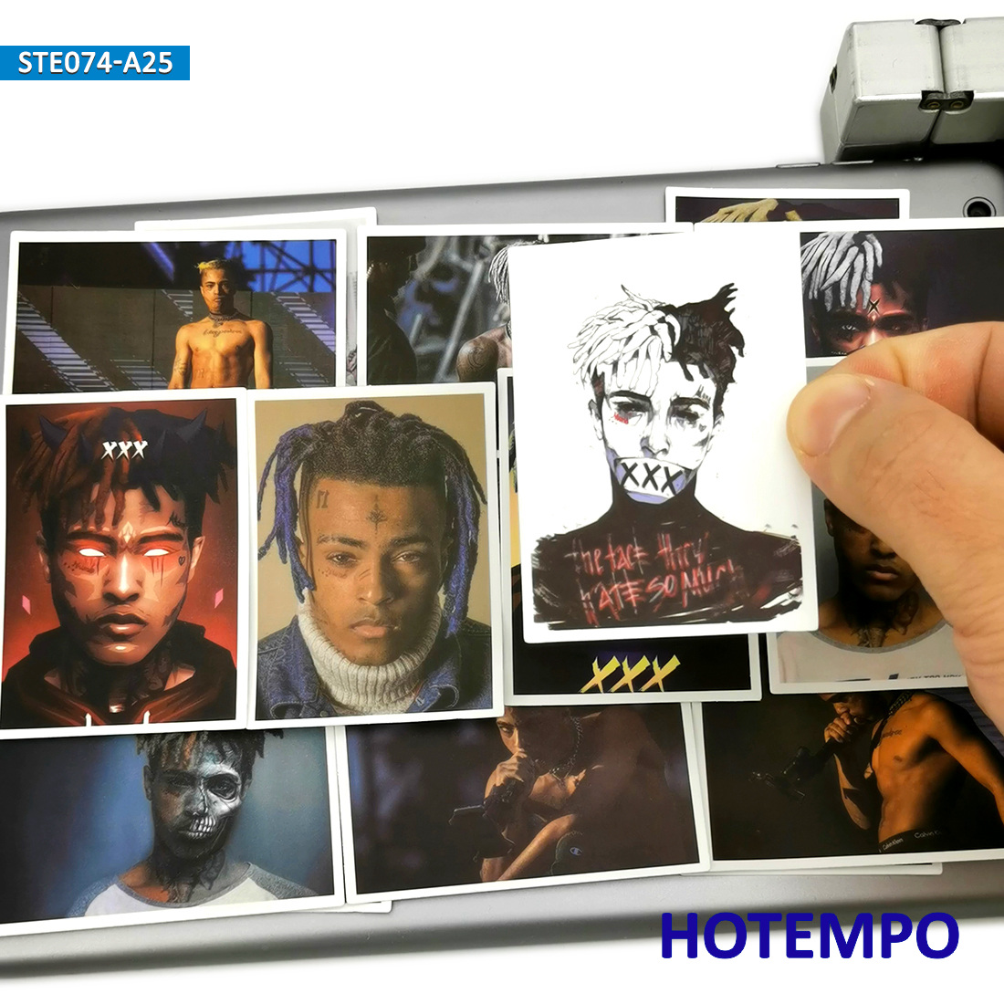 25pcs American Rapper Xxxtentacion Poster Sticker For DIY Mobile Phone Laptop Luggage Suitcase Guitar Skateboard Decal Stickers