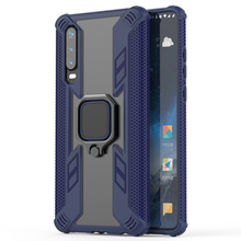 Jagged Warrior Mobile Shell FOR:Huawei honor 20i V20 8X P30 Mate20X Y6 Y7 Y9 enjoy 9S ring bracket mobile phone case