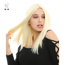 WHIMSICAL W 14 inch Short Straight Wigs 613 Color Synthetic Wig
