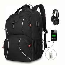 Рюкзак xqxa мужской с usb зарядкой многофункциональный деловой