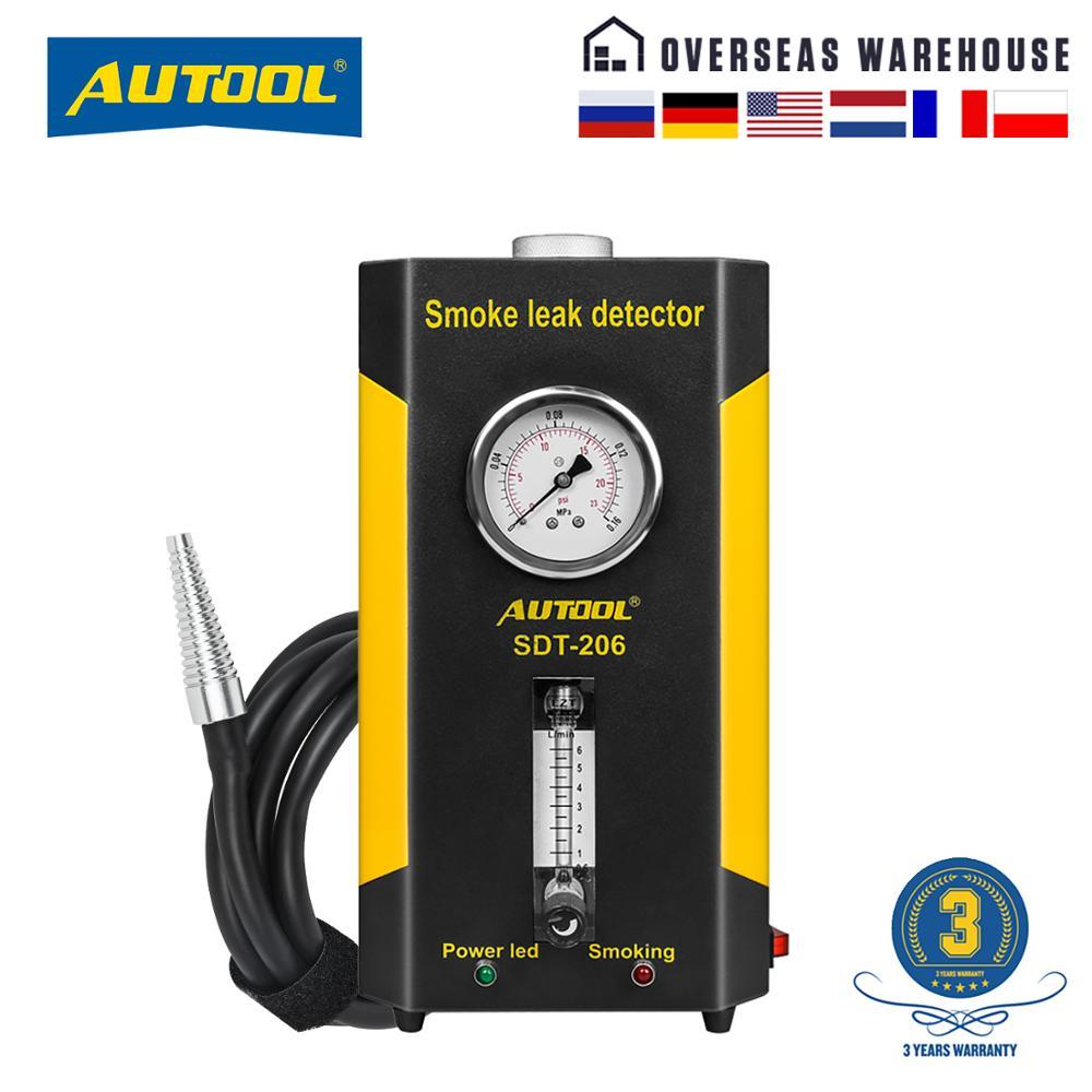 AUTOOL SDT202 SDT206 Car Automotive Smoke Machine Pipe Smog Generator Leak Detect Leakage Detector Diagnostic 12V Auto Repair Gas Analyzers    - AliExpress