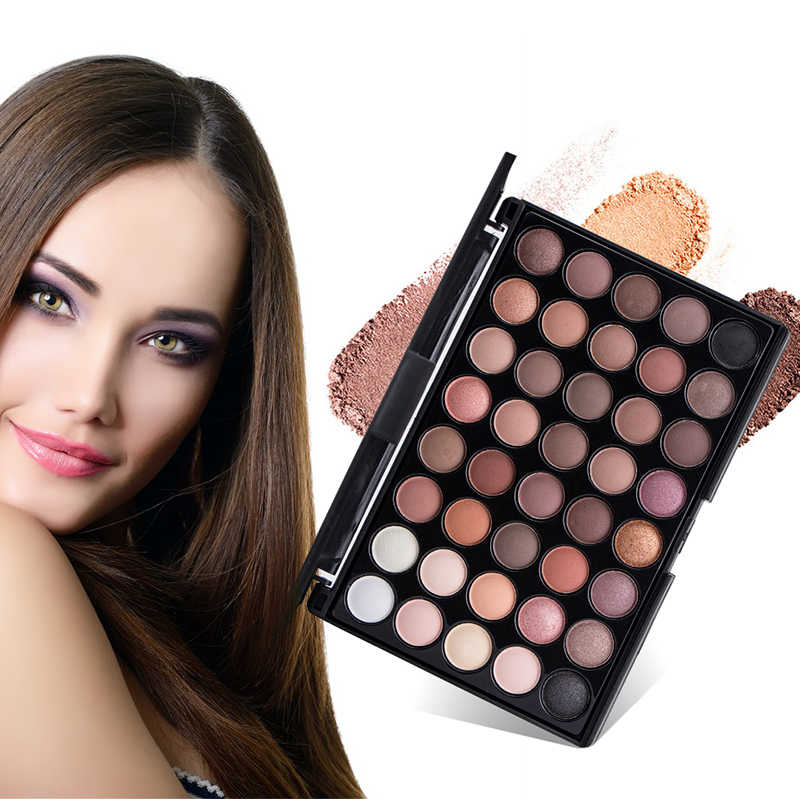 New 40 Colors Eye Makeup Nudes Palette Matte Eyeshadow Naked Beauty Powder Eye Shadows Earth Pearl Shimmer Cosmetic Set TSLM1
