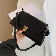 С простым узором сумки на плечо для женщин 2020 зимняя трендовая
