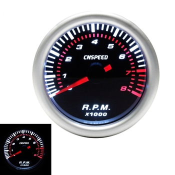 цена на Auto Car Tachometer Tacho Gauge 0~8000 RPM Meter 2 52mm Universal Car Motor White Led Meter Pointer RPM 12V Gasoline