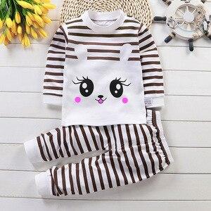 Осенняя Пижама для детей с длинными рукавами; хлопковый Пижамный костюм; комплект одежды с рисунками животных; детские пижамы; пижамный комплект; одежда для сна