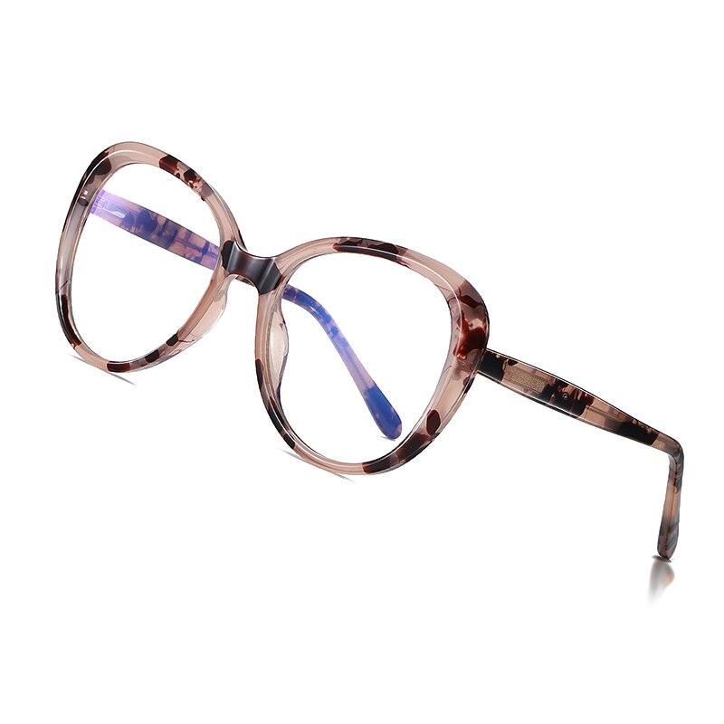 AOFLY BRAND DESIGN Round Anti Blue Light Glasses Ladies Oversized Optical Glasses Frame Fashion Computer Eyewear Women UV400