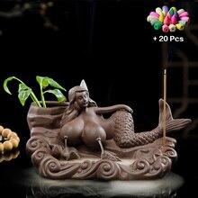 Fragrant Falls Incense Burner Ceramics Mermaid Sex Tools Decorative for Women Sex Games Mixed Incense Cone