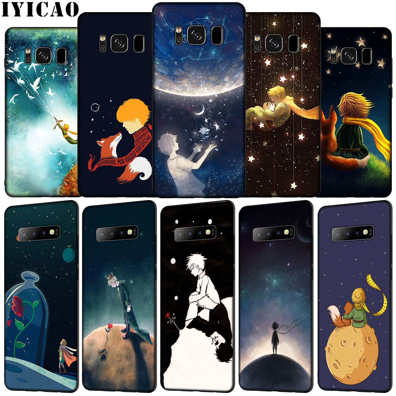IYICAO The Little Prince Soft Silicone Phone <font><b>Case</b></font> for <font><b>Samsung</b></font> Galaxy S20 Ultra <font><b>S10e</b></font> S9 S8 Plus S6 S7 Edge S10 Lite Cover image
