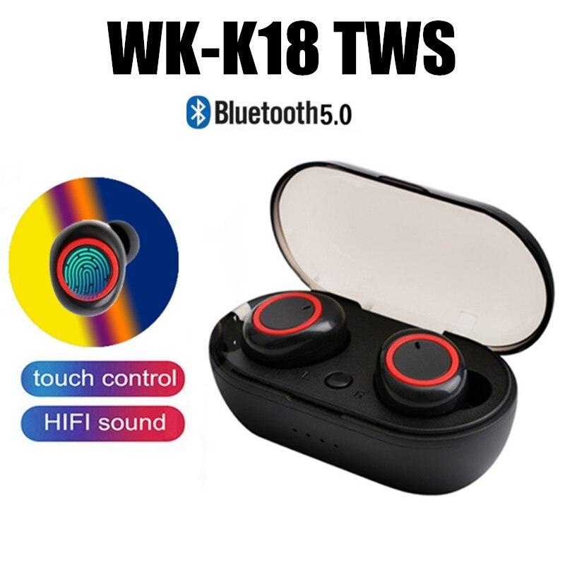 2019 K18 Touch Tws Bluetooth 5.0 Earphones Wireless Headphones Earbuds Sport Mini In-Ear Headset For Xiaomi Para Elari Nanopods