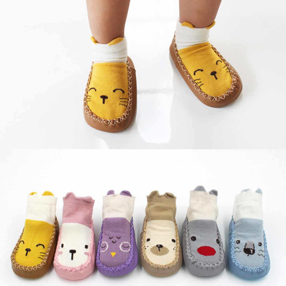 חמוד בייבי ילדים Cartoon חם גרבי יילוד תינוק בנות בנים אנטי להחליק גרבי נעלי מגפי סתיו חורף kadin ayakkabı