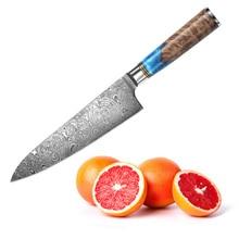 De acero de Damasco cuchillo de cocina para el hogar cuchilla cuchillo rebanador de frutas verduras cocina sharp carne cuchillo la carne