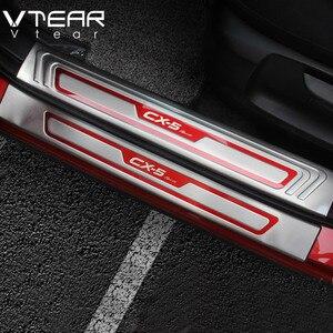 Image 2 - Vtear עבור מאזדה CX 5 CX5 אביזרי 2020 2017 רכב דלת אדן מגן שפשוף Trim נירוסטה הגנה צלחות כיסוי