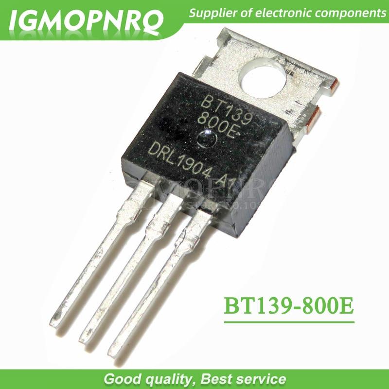 10pcs BT139-800E BT139 BT139-800  800V 16A Triacs RAIL TRIAC TO-220  New Original