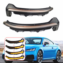 Water Blink Dynamic Flowing Side Mirror LED Turn Signal Light FOR AUDI TT RS FV 8S R8 4S 2016-2020 Side Mirror Indicator replace