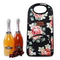 Winmax Portable cerveza champán botella congelador individual/doble grueso sostenedor de botella de vino de viaje Picnic enfriar Icepack nevera bolsa