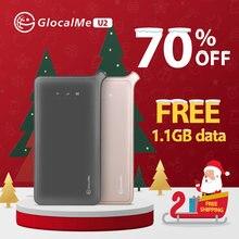 Мобильный Wi-Fi роутер GlocalMe U2, Wi-Fi точка доступа, портативный Wi-Fi 4G Роутер, охват 100 стран, Бесплатный роуминг, Sim-карта бесплатно