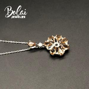 Image 3 - Zultanite ciondolo creato cambiamento di Colore della pietra preziosa con 925 sterling silver Creativo del pendente del fiore bolaijewelry promozione