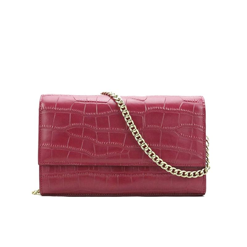 Elegant Embossed Crocodile Leather Women Chain Purse Handbags Initials Customized Luxury Shoulder Bags For Women Messenger Bags