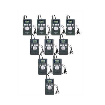 1 FM Transmitter FT11+10Pcs FM Radio Receiver PR13 Wireless Voice Transmission System For Guiding Church Meeting Training 7
