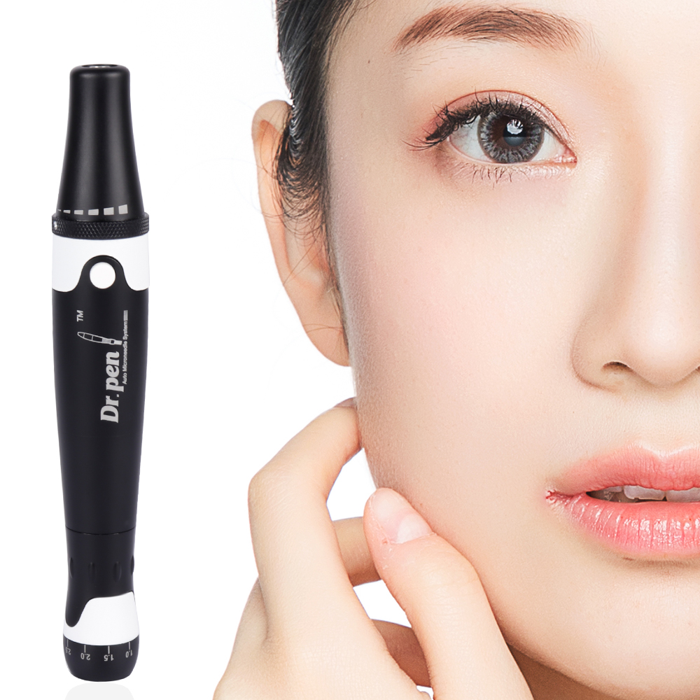 Ultima A7 Microneedle Therapy System Wrinkle Removal Skin Care Eyebrow Lip Massager Beauty Tools With 2pcs 12pin Needles
