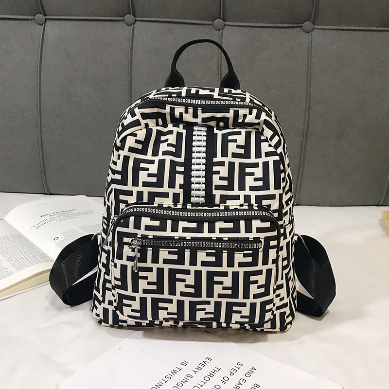 College Style Large-Volume School Bag Fashion 2019 New Style Casual Backpack WOMEN'S Bag Korean-style Soft Surface Backpack Trav