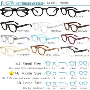 Image 2 - IVSTA Johnny Depp Gläser Männer Handgemachte Acetat Rahmen Polarisierte Sonnenbrille Runde Luxus Marke Optische Myopie Rezept Logo