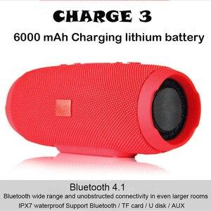 Altavoz portátil de 20W con Bluetooth para exteriores, altavoz de Supergraves Subwoofer resistente al agua, columna de altavoz IPX7 Charge3 para teléfono y pc