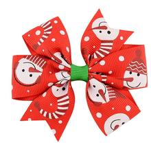 Christmas Bow Hair Swallowtail Clips Baby Girl Hair Bows Children Hair Clips Boutique Bow Hair Clips Women's Accessories DXAA(China)