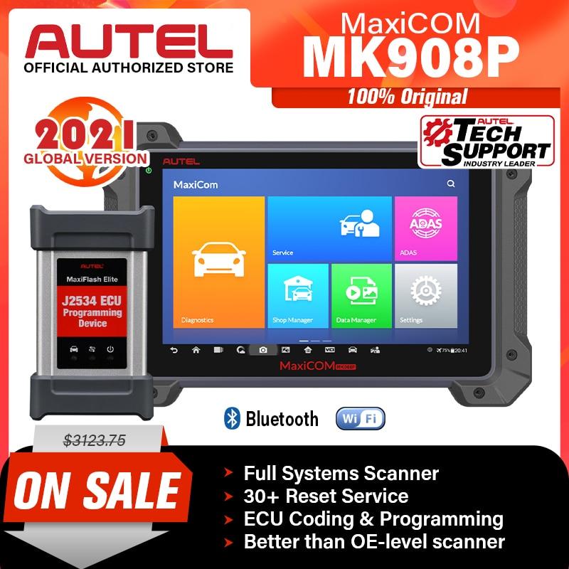 Autel MaxiCOM MK908P MS908PRO Automotive Diagnostic Scanner Bi-Directional Control Diagnostic Tool ECU Programming OBD2 Scanner