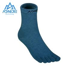 Socks Running-Shoes AONIJIE Sports for Barefoot Marathon E4813 One-Pair Long-Tube Mid-Calf-Length