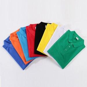 Image 4 - Autumn High Quality Polo Shirts customization Female Casual Solid Sweatshirt Women Cotton Long Sleeve Tops Shirt Plus Size