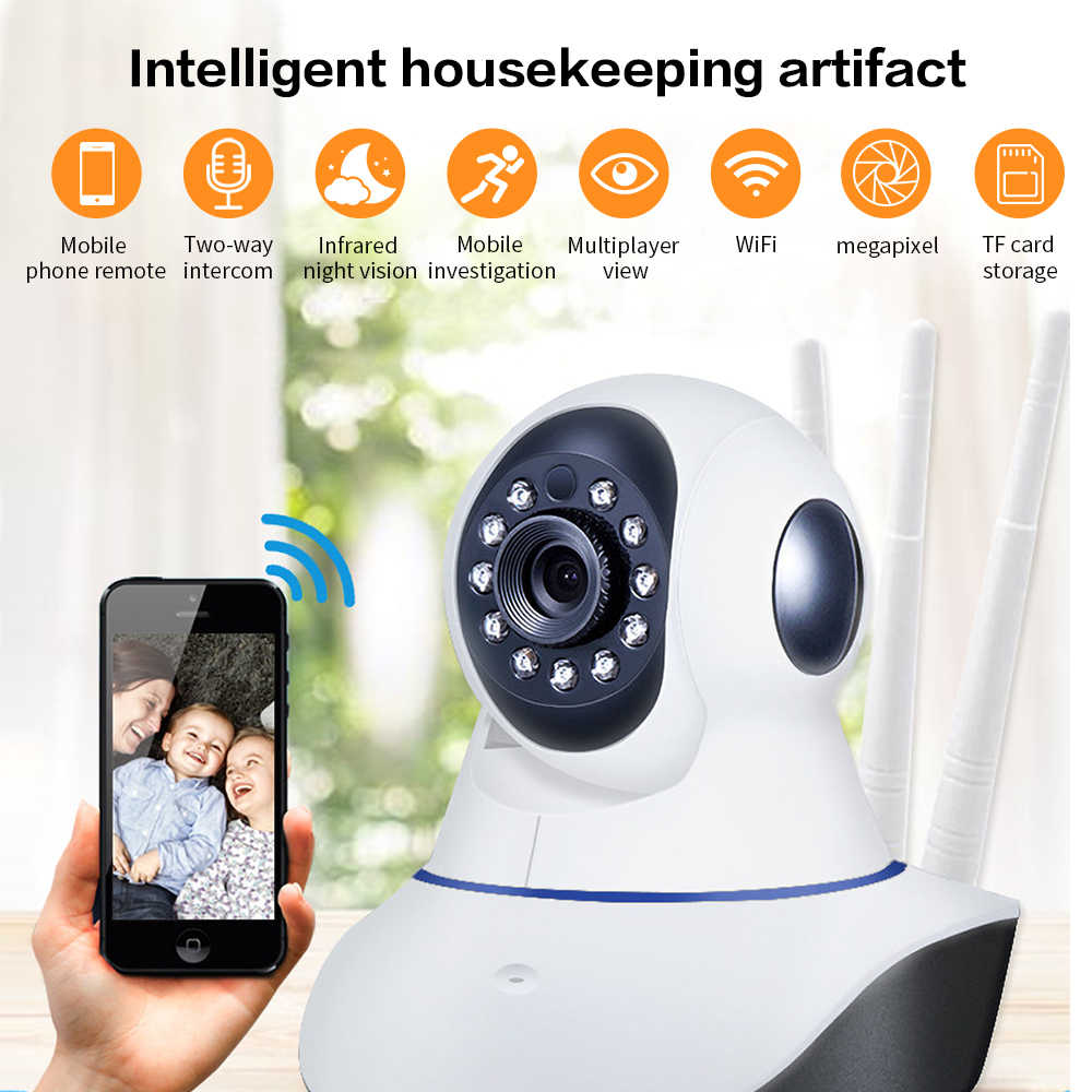 new Q5 300w pixels Three antenna  Home Security Camera HD Wireless Camera  Pan Tilt Smart Wifi Audio Camera Baby Monitor P2P