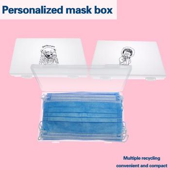 Przenośne wodoodporne maski na twarz organizator torba usta maska przechowywanie uchwyt skrzynki klips do torebek pyłoszczelne składane torby do przechowywania # np30 tanie i dobre opinie ISHOWTIENDA