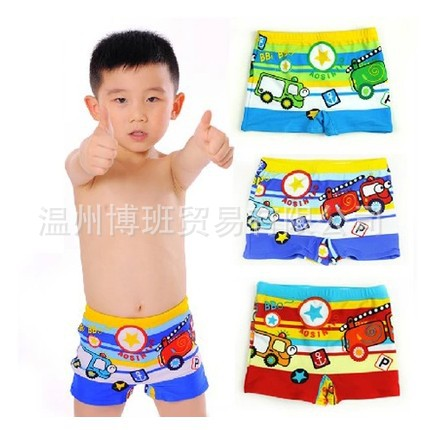 KID'S Swimwear Children Swimming Trunks Korean-style Baby BOY'S Small CHILDREN'S Car AussieBum Bubble Hot Spring