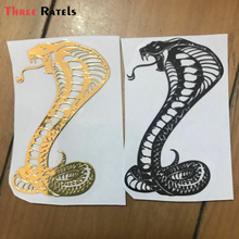 Three Ratel  cool MT-66 snake cobra 3D metal sticker  Stickers for Laptop Skateboard Home Decoration Car Scooter Decal