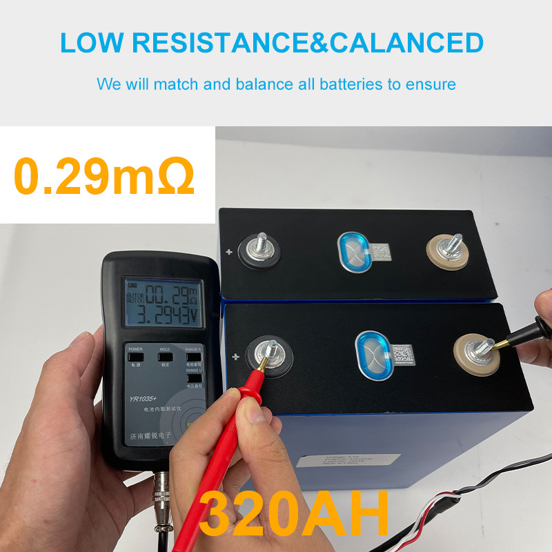 4 Stuks Grade A 3.2V 300AH LiFePo4 Batterij Cellen Diy 12V 24V 48V 320ah Oplaadbare Batterij pack Lithium-ijzerfosfaat Eu Geen Belasting 6