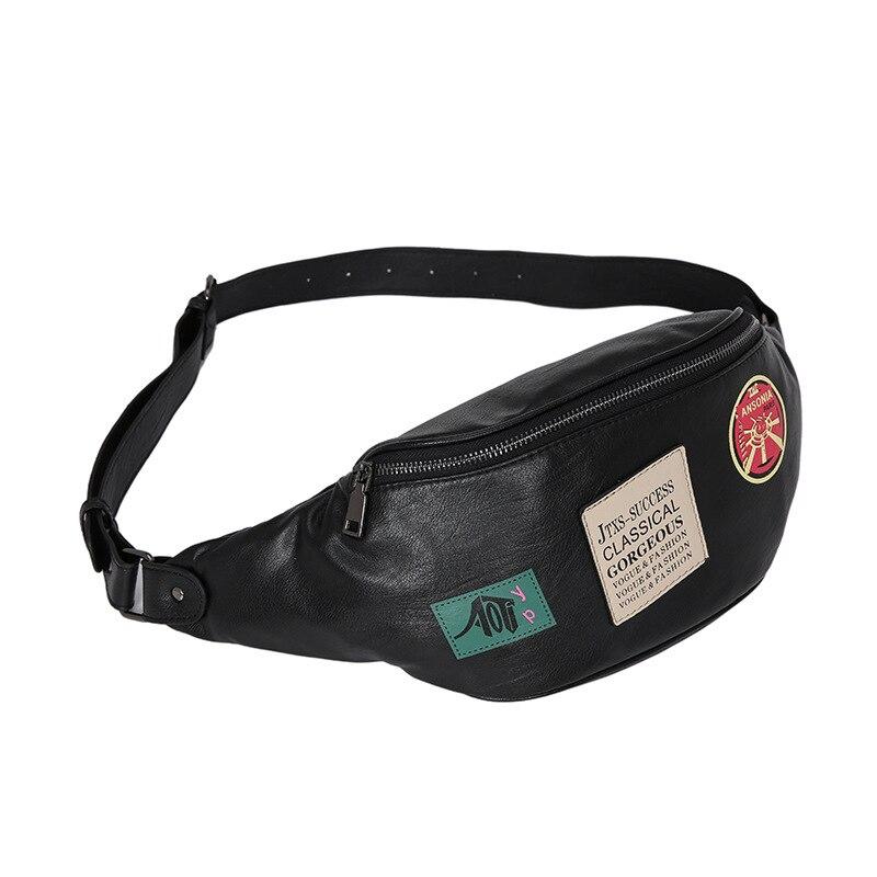 High Quality Fashion Men PU Leather Vintage Chest Back Pack Travel Bag fashion CrossBody Messenger Shoulder Bag Waist Bag