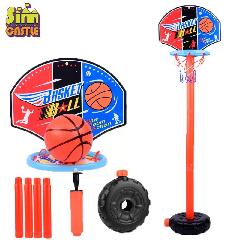 Outdoor Sport Set Basketball Playing Adjustable Stand Basket Holder Hoop Goal Game Mini Indoor Child Kid Boys Toys For Children