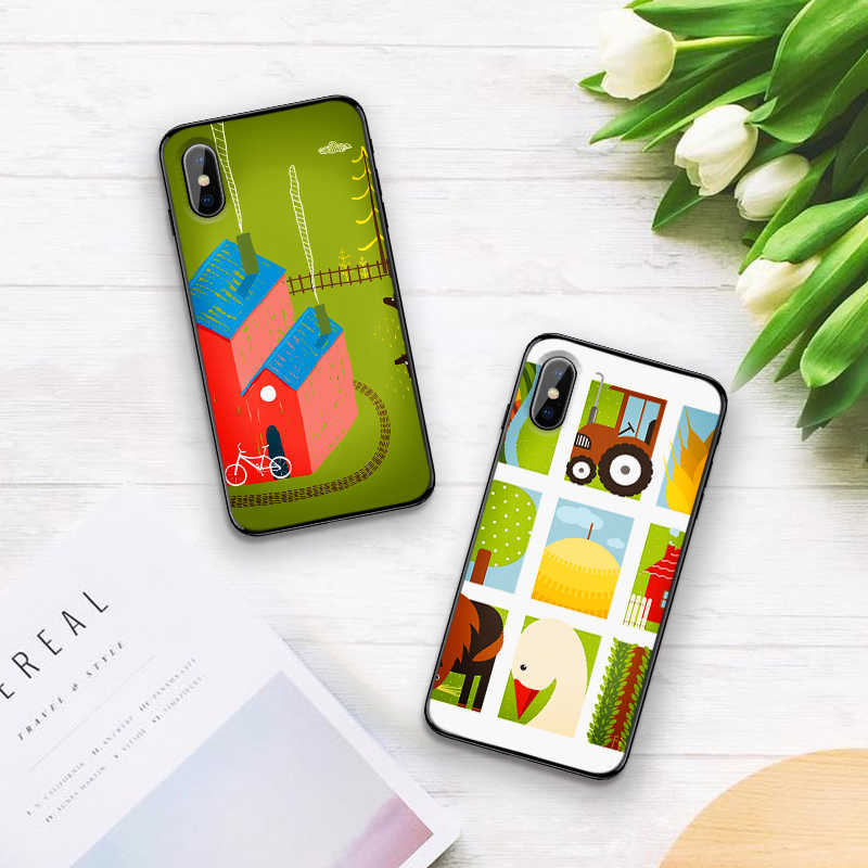 Thị Trấn nhỏ Hay Làng Dành Cho iPhone 6 6S 7 8 Plus X XS XR XS Max 5 5S TPU Mềm Mại Bảo Vệ Lưng Điện Thoại Ốp Lưng Vỏ